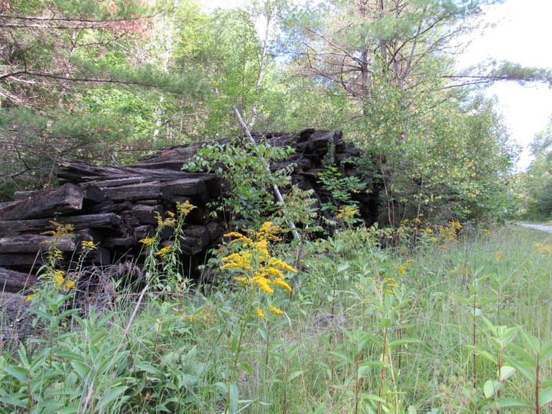Railroad ties at Eagle Pond Farm