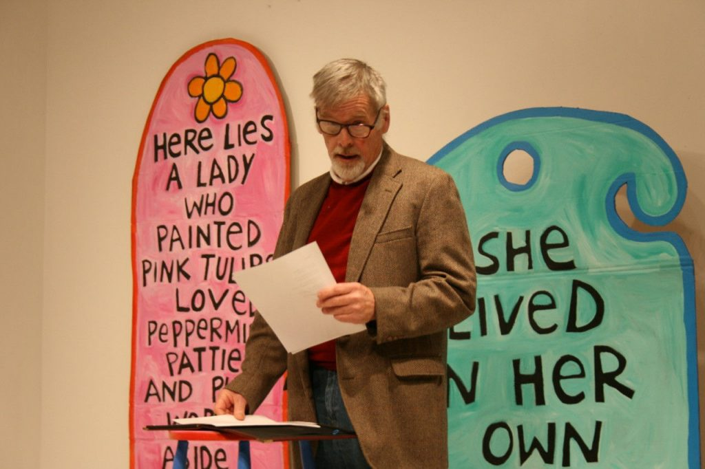 Dave Read poetry performance at IWOW.