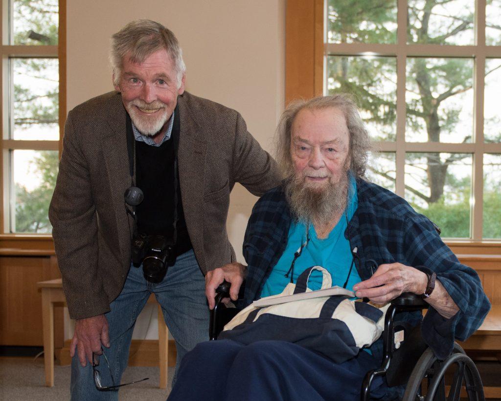 David Read And Donald Hall At UNH, Nov. 2017