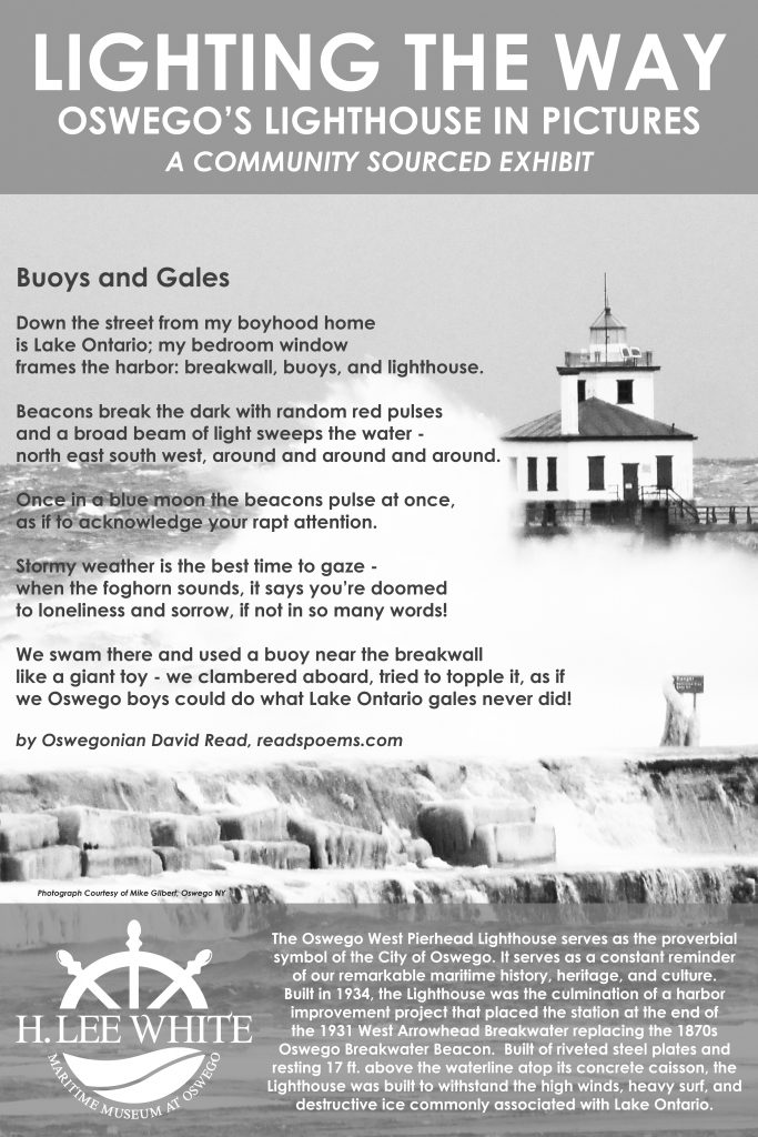 Buoys and Gales Dave Read's poem Oswego Lighthouse poster